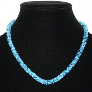 Nwt Blue beaded necklace with toggle